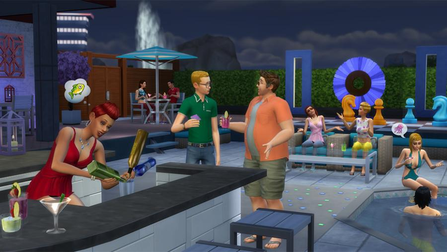 Los Sims 4 - Día de Spa + Fiesta Glamurosa Pack de Accesorios + Patio de Ensueño Pack de Accesorios Bundle Screenshot 8