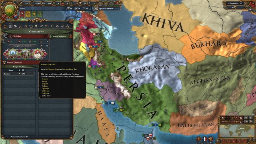 Europa Universalis IV - Cradle of Civilization (DLC) Screenshot 9