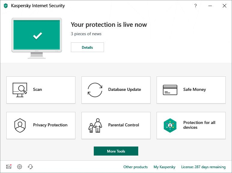Kaspersky Internet Security Multi-Device 2019 (3 Users / 1 Year) Screenshot 2